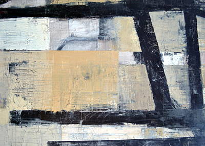 Painting - Black Lines Abstract 3.0 by Michelle Calkins