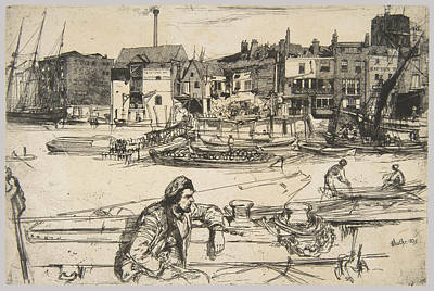 Whistler Painting - Black Lion Wharf by James McNeill