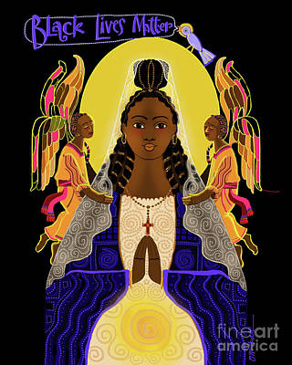 Painting - Black Lives Matter Madonna - Mmblm by Br Mickey McGrath OSFS