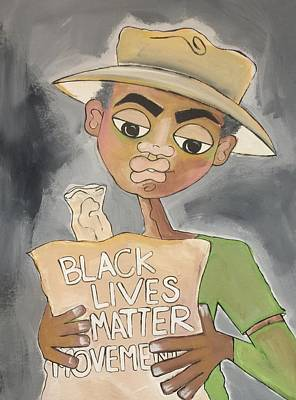 Painting - Black Lives Matter Movement by Deborah Carrie