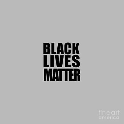 Black Lives Matter Tee Art Print