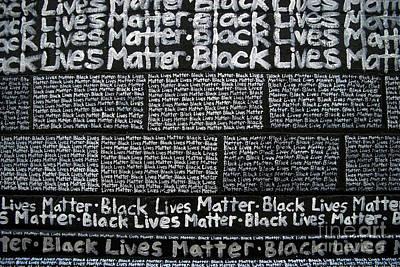 Black Lives Matter Wall Part 3 Of 9 Art Print