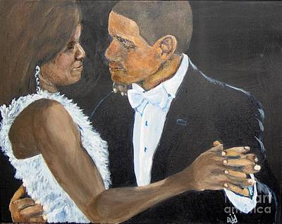 Michelle Obama Painting - Black Love Is Black Power by Saundra Johnson