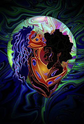 Solange Digital Art - Black Love by Kia Kelliebrew