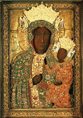 Sacral Painting - Black Madonna Of Czestochow Poland by Magdalena Walulik