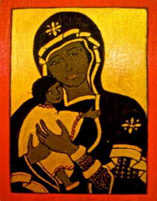 Painting - Black Madonna by Stephanie Moore