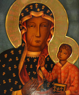 Black Madonna Painting - black Madonna by Philip Ralley