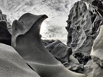 Mysterious Sun Photograph - Black Magic Canyon by Leland D Howard