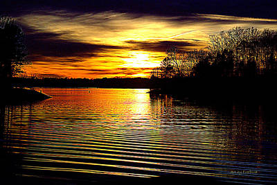 Lake Wylie Photograph - Black Magic On The Water by FreeBird Skains