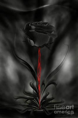 Digital Art - Black Magic Rose by Johnny Hildingsson