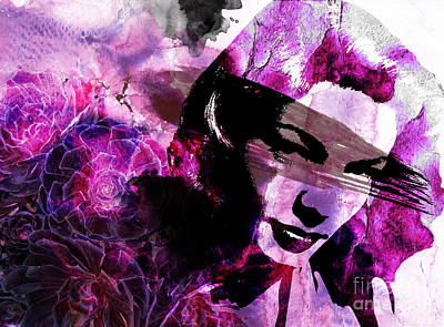 Lips Digital Art - Black Magic Women by Ramneek Narang