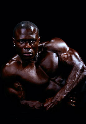 Photograph - Black Male Fitness Model by Val Black Russian Tourchin