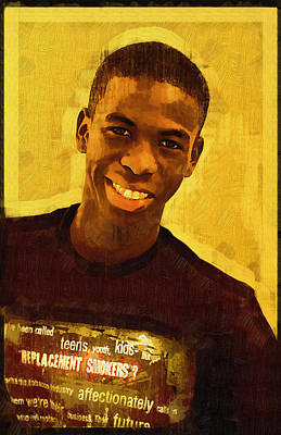 Photograph - Young Black Male Teen 2 by Ginger Wakem