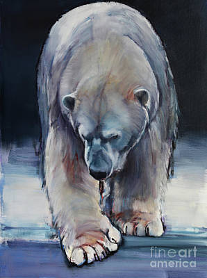 Paws Painting - Black by Mark Adlington