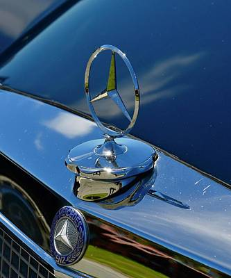 Photograph - Black Mercedes Ornament by Dean Ferreira