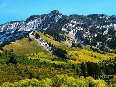 Black Mesa Rocky Peak In Autumn Art Print