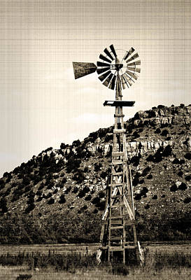Photograph - Black Mesa Windmill by Fred Lassmann