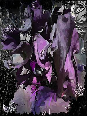 Digital Art - Black Metallic Orchid by Michael Hurwitz