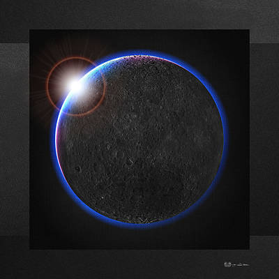 Digital Art - Black Moon - The Dark Side Of The Moon  by Serge Averbukh