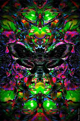 Digital Art - Black Moth by Wesley Nesbitt