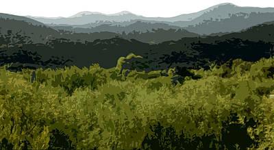 Black Mountains Art Print by John Scariano