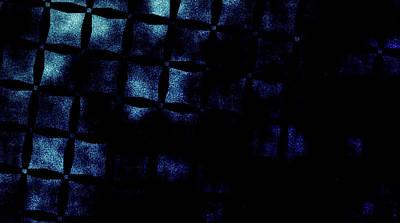 Black N Blue Burn Art Print by Carol Crisafi