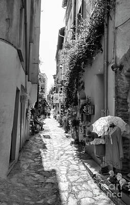 Photograph - Black Narrow Collioure France  by Chuck Kuhn