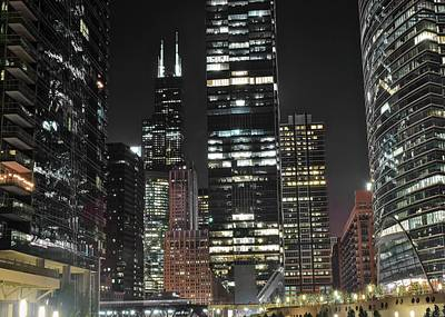Photograph - Black Night 2017 In The Windy City by Frozen in Time Fine Art Photography