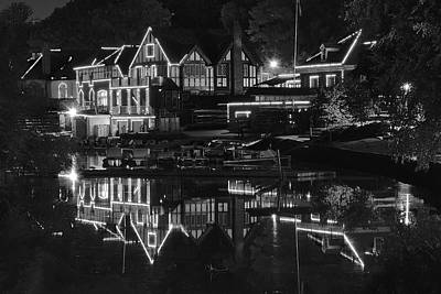 Photograph - Black Night At Boathouse Row by Frozen in Time Fine Art Photography