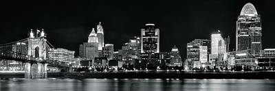 Photograph - Black Night Cinci Pano by Frozen in Time Fine Art Photography