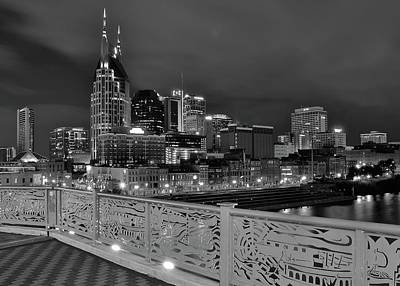 Photograph - Black Night In Nashville by Frozen in Time Fine Art Photography