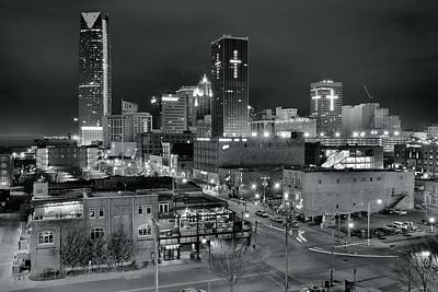 Photograph - Black Night In Okc by Frozen in Time Fine Art Photography