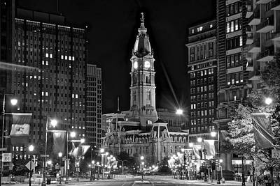 Photograph - Black Night In Philly 2016 by Frozen in Time Fine Art Photography