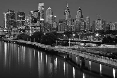 Rocky Statue Photograph - Black Night In Philly by Frozen in Time Fine Art Photography
