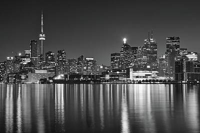 Photograph - Black Night In Toronto by Frozen in Time Fine Art Photography
