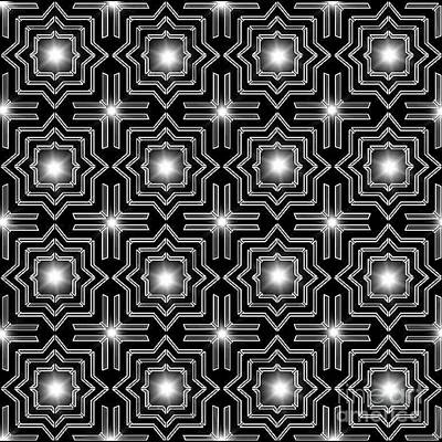 Wall Art - Digital Art - Black Night Lights by Lisa Marie Towne