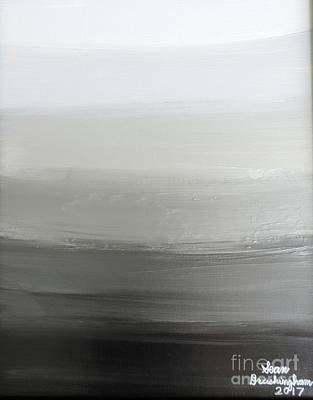 Painting - Black Night by Sean Brushingham