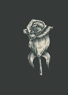 Art Print featuring the digital art Black On Black by ReInVintaged