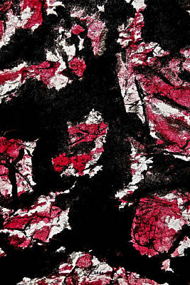 Painting - Black On Red by Joan Reese
