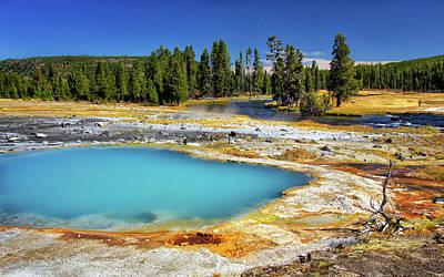Photograph - Black Opal Pool In Yellowstone by Carolyn Derstine