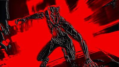 Danai Gurira Mixed Media - Black Panther 1b by Brian Reaves