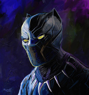 Painting - Black Panther by Anthony Mwangi