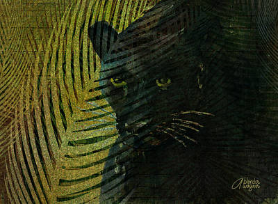 Panther Mixed Media - Black Panther by Arline Wagner