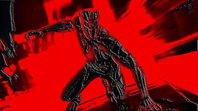Danai Gurira Mixed Media - Black Panther by Brian Reaves