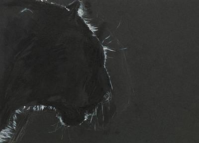 Black Panther  Art Print by Dan Comaniciu