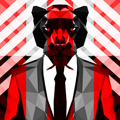 Tuxedo Cat Digital Art - Black Panther by Gallini Design