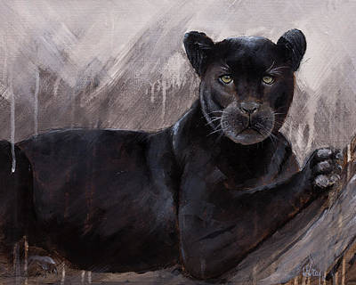 Painting - Black Panther  by Gray Artus