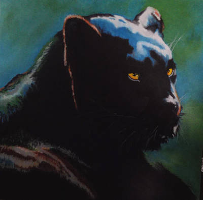 Painting - Black Panther by Maris Sherwood