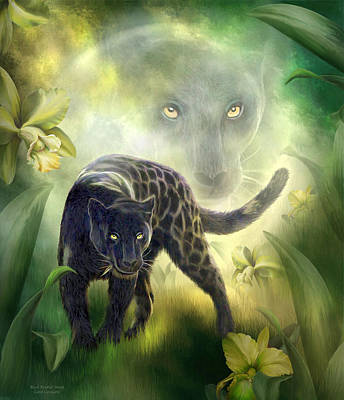 Mixed Media - Black Panther Moon by Carol Cavalaris