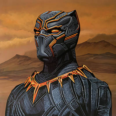 Painting - Black Panther Painting by Paul Meijering